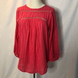 COUNTRY ROAD magenta pink cotton top Size Small